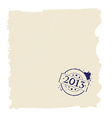 2013 stamp on paper vector image