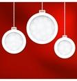 Paper Christmas balls  EPS8 vector image