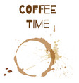 close up of coffee cup stains vector image