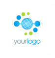 globe orbit connect logo vector image