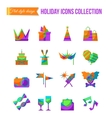 Set of art theater cinema and music flat icons vector image