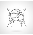 Basketball game flat line design icon vector image