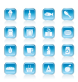shop and food icons vector image vector image