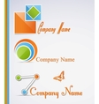 Business abstract icons set vector image vector image