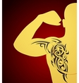 Tribal tattoo ornament vector image