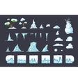 Winter Tile set for Platformer Game Seamless vector image vector image