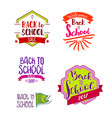 back to school labels collection vector image