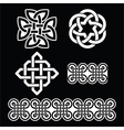 Celtic Irish white patterns and knots vector image