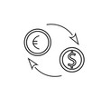 euro dollar exchange icon vector image
