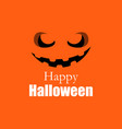 happy halloween pumpkin jack o lantern icon vector image
