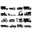 Heavy vehicles icons set vector image