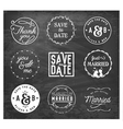 Wedding Design Elements Badges and Labels vector image