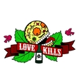 Stiker love kills vector image