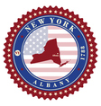 Label sticker cards of State New York USA vector image