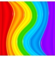 Bright rainbow plastic waves background vector image