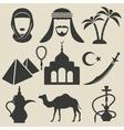 Arabic icons set vector image vector image