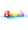 Beach artwork vector image