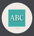 Letters of the alphabet Icon learning school vector image