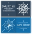 Set of blue nautical flyers vector image