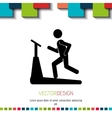 fitness icon design vector image