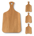 Set of realistic wooden kitchen boards vector image