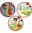 Beware of pickpockets vector image vector image