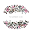 Colorfull Floral Background Hand Drawn vector image