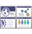 Education Presentation Template vector image vector image
