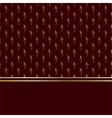 baroque card gold vector image