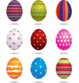 Easter eggs isolated vector image