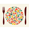Food and restaurant concept vector image