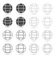 globe set icon vector image