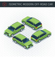 green off-road car vector image