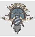 Marine emblem in vintage style vector image