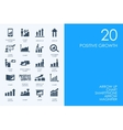 Set of BLUE HAMSTER Library positive growth icons vector image
