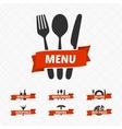 Set of restaurant signs symbols logo vector image