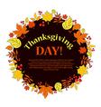 Thanksgiving Autumn vector image vector image