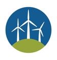 windmill eco energy icon vector image
