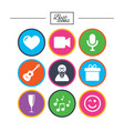 party celebration birthday icons carnival vector image