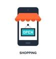 mobile shopping vector image