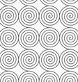 Gray Archimedean spirals vector image