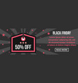 black friday banner horizontal concept vector image