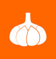 garlic white icon vector image