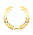 Gold laurel wheat wreath icon vector image