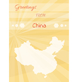 greetings from china vector image