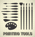 Painting Tools Collection vector image
