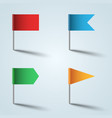 pin - flag color icon on the grey vector image