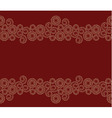 Seamless beige border on red background vector image