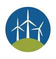 windmill eco energy icon vector image