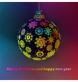 Christmas ball made from snowflakes  EPS8 vector image